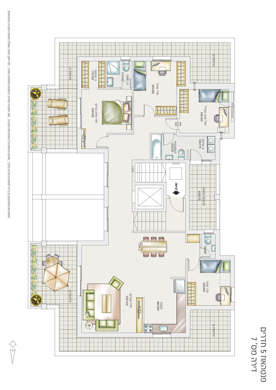 פנטהאוז 5 חד' - דירה מס' 7