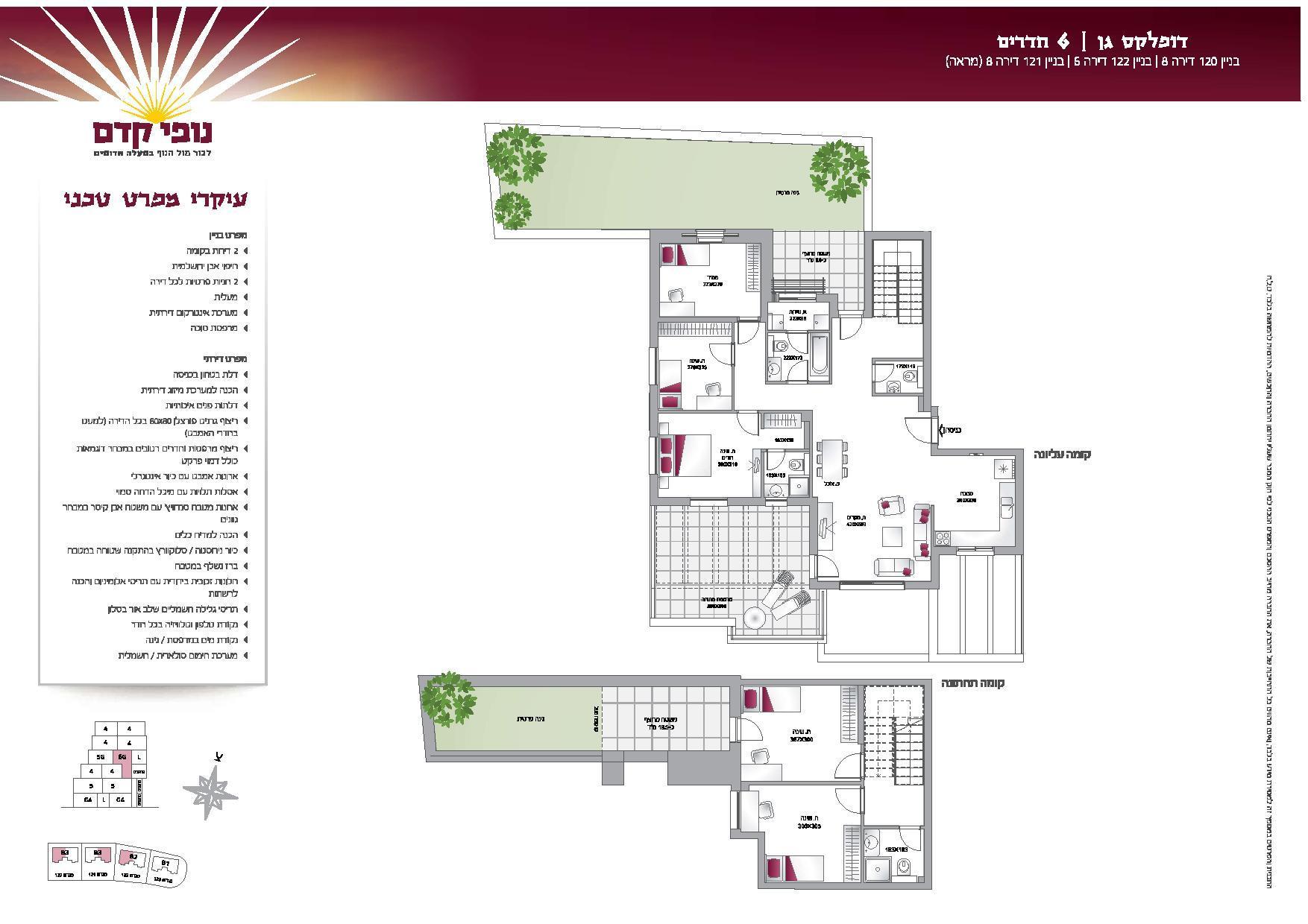 דופלקס גן 6 חדרים